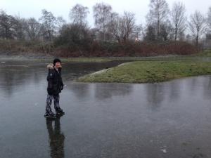 Senna durft wél op het ijs, als eerste en enige! - 23 jan 2015
